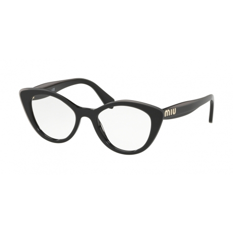 Miu Miu MU 01RV K9T1O1 | Frame: black top grey