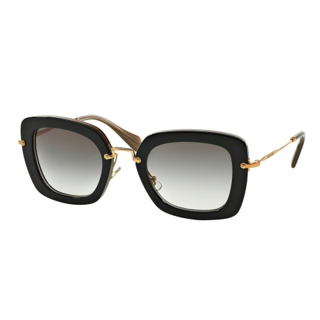 Miu Miu MU 07OS KAY0A7 | Frame: top black, opal | Lenses: grey gradient