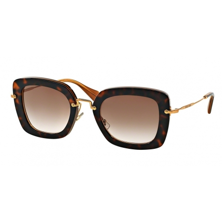 Miu Miu MU 07OS KAZ0A6 | Frame: top havana on opal | Lenses: brown gradient