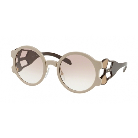 Prada PR 13US LJ71L0 | Frame: beige | Lenses: transparent gradient brown