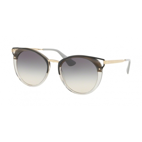 Prada PR 66TS MRU130 | Frame: striped grey | Lenses: grey gradient