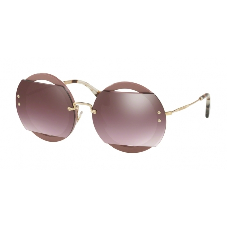 Miu Miu MU 06SS VIZAD4 | Frame: antique pink | Lenses: gradient pink gold mirror