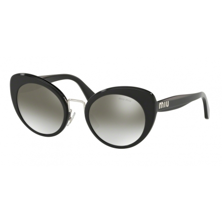 Miu Miu MU 06TS 16E5O0 | Frame: black top opal grey | Lenses: gradient grey silver mirror