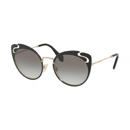 Miu Miu MU 57TS 1AB0A7 | Frame: pale gold, black | Lenses: grey gradient