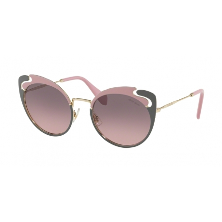 Miu Miu MU 57TS M1R146 | Frame: pale gold, alabaster, grey | Lenses: pink gradient grey