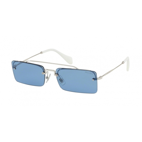 Miu Miu MU 59TS 1BC2J1 | Frame: silver | Lenses: light blue