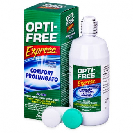 Alcon OPTI-FREE Express | Unique solution for the maintenance of soft contact lenses. | The package contains contact lenses case.