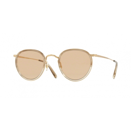 Oliver Peoples OV1104 Mp-2 5287 | Frame: striped military green, 18k gold plated | Lens: brown