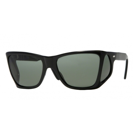 Persol PO0009 95/31 | Frame: black | Lenses: crystal green