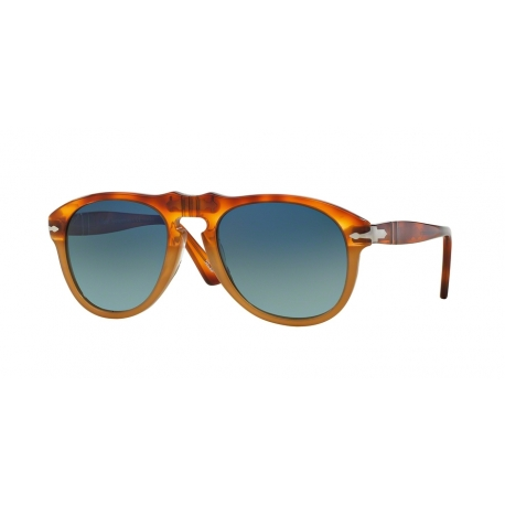 Persol PO0649 1025S3 | Frame: brown, havana | Lenses: gradient blue polarized