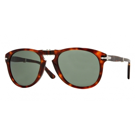 Persol PO0714 Folding 24/31 | Frame: havana | Lenses: crystal green