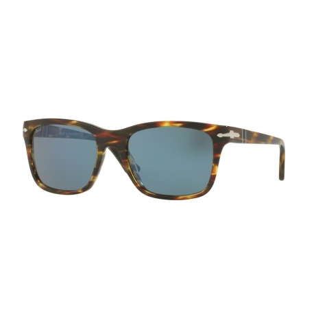 Persol PO3135S 938/56 | Frame: striped green | Lenses: light blue