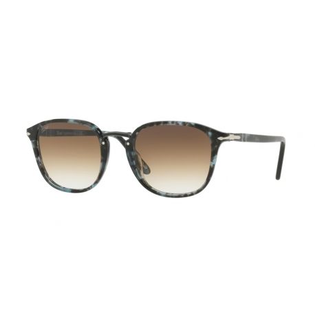 Persol PO3186S 106251 | Frame: spotted blue dark grey | Lenses: transparent gradient brown