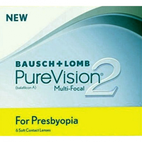Bausch + Lomb PureVision 2 for Presbyopia | Type: multifocal for presbyopia in silicone hydrogel | Life: monthly disposable