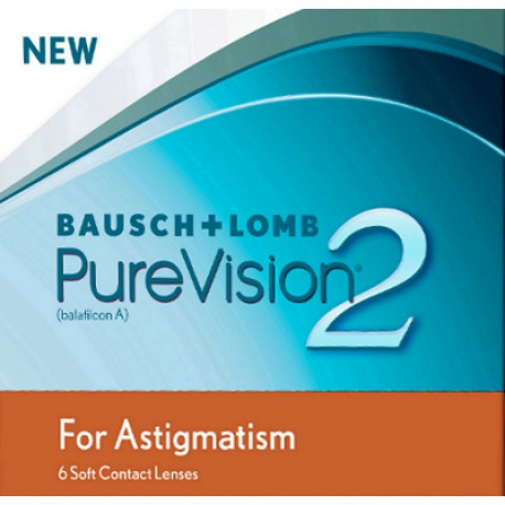 Bausch + Lomb PureVision 2 HD for Astigmatism | Type: toric for astigmatism in silicone hydrogel | Life: monthly disposable