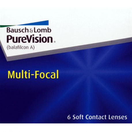Bausch + Lomb PureVision Multi-Focal | Type: multifocal for presbyopia in silicone hydrogel | Life: monthly disposable