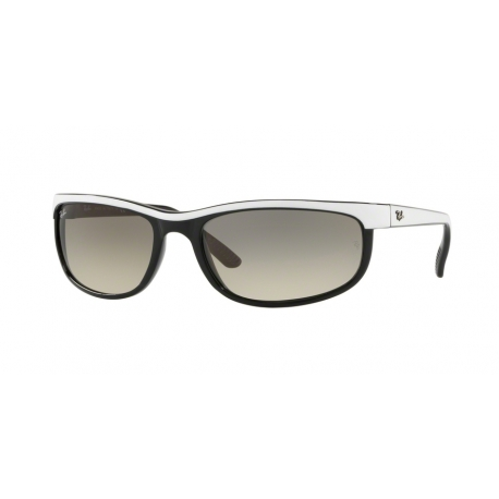 Ray-Ban RB2027 Predator 2 629932 | Frame: top white on black | Lenses: transparent gradient grey