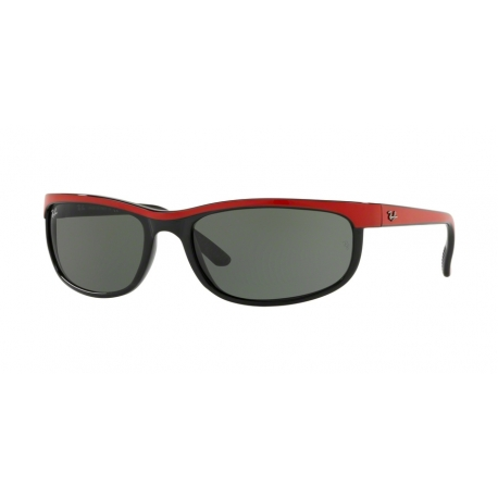 Ray-Ban RB2027 Predator 2 6300 | Frame: top red on black | Lenses: green