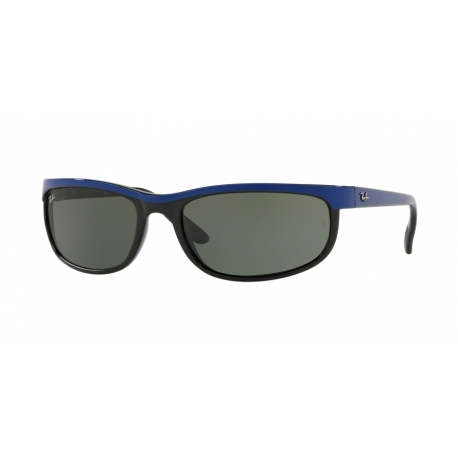 Ray-Ban RB2027 Predator 2 6301 | Frame: top blue on black | Lenses: green