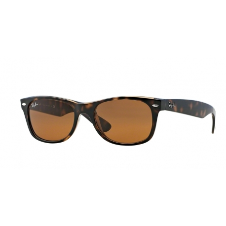 Ray-Ban RB2132 New Wayfarer 710 | Frame: light havana | Lenses: crystal brown