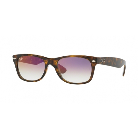 Ray-Ban RB2132 New Wayfarer 710/S5 | Frame: havana | Lenses: transparent gradient violet