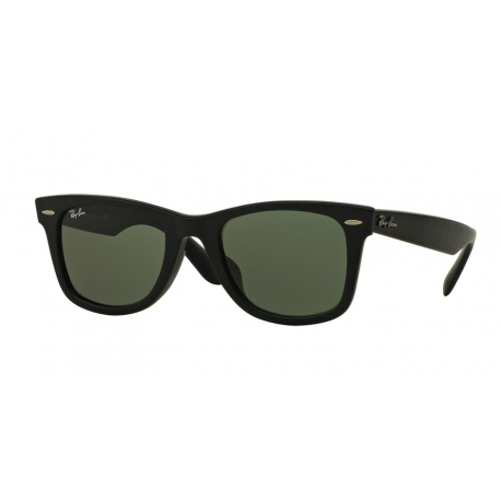 Ray-Ban RB2140F Wayfarer 901S | Frame: matte black | Lenses: crystal green