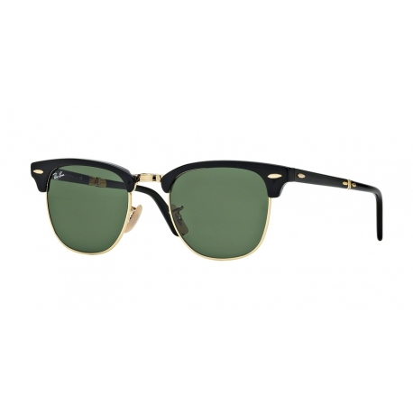 Ray-Ban RB2176 Clubmaster Folding 901 | Frame: black | Lenses: crystal green