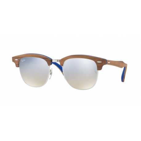 Ray-Ban RB3016M Clubmaster 12179U | Frame: silver | Lenses: brown gradient silver mirror