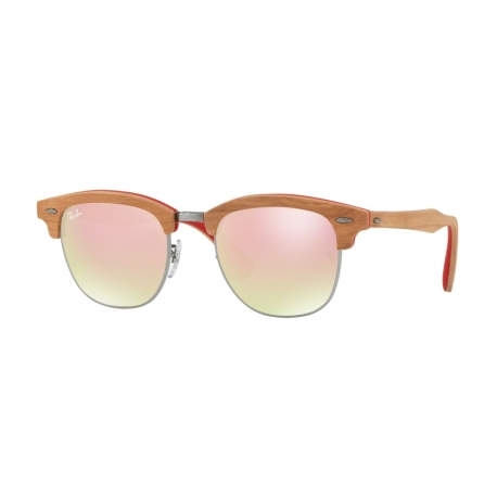 Ray-Ban RB3016M Clubmaster 12197O | Frame: gunmetal | Lenses: brown gradient mirror pink