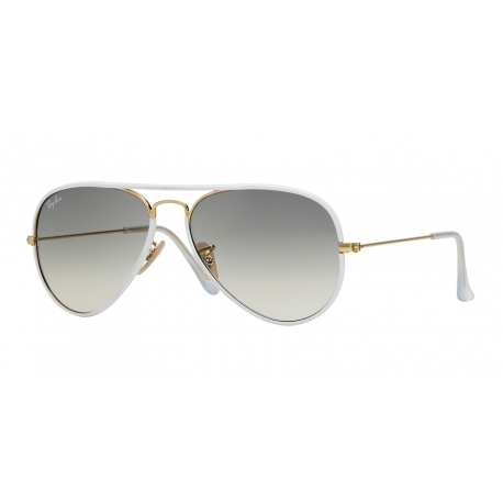 Ray-Ban RB3025JM Aviator Full Color 146/32 | Frame: shiny gold | Lenses: grey gradient