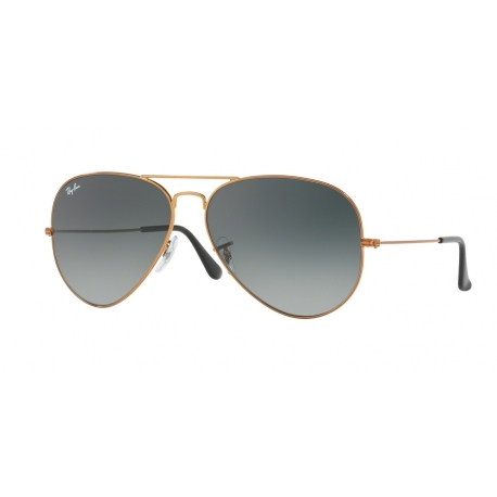 Ray-Ban RB3026 Aviator Large Metal II 197/71 | Frame: shiny bronze | Lenses: light grey gradient dark grey