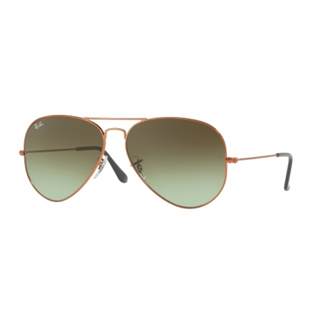 Ray-Ban RB3026 Aviator Large Metal II 9002A6 | Frame: shiny medium bronze | Lenses: green gradient brown