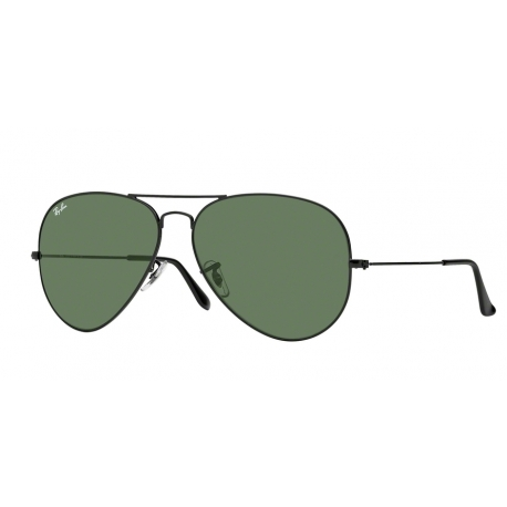 Ray-Ban RB3026 Aviator Large Metal II L2821 | Frame: black | Lenses: crystal green