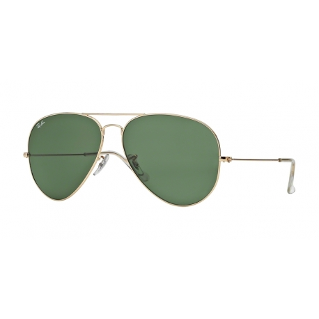 Ray-Ban RB3026 Aviator Large Metal II L2846 | Frame: arista | Lenses: crystal green