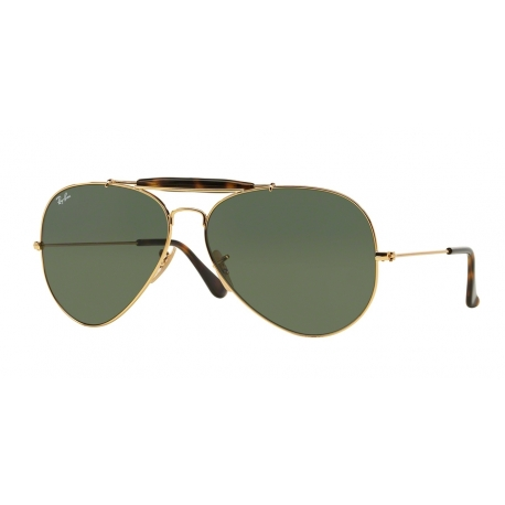 Ray-Ban RB3029 Outdoorsman II 181 | Frame: gold | Lenses: dark green