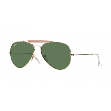 Ray-Ban RB3029 Outdoorsman II L2112 | Frame: arista | Lenses: crystal green