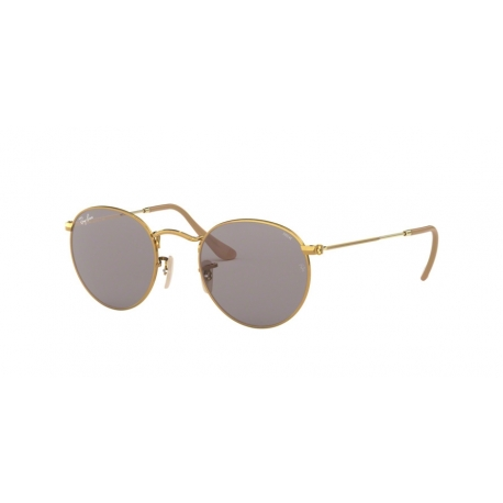 Ray-Ban RB3447 Round Metal 9064V8 | Frame: gold | Lenses: grey