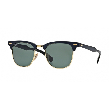 Ray-Ban RB3507 Clubmaster Aluminum 136/N5 | Frame: black, arista | Lenses: polarized green