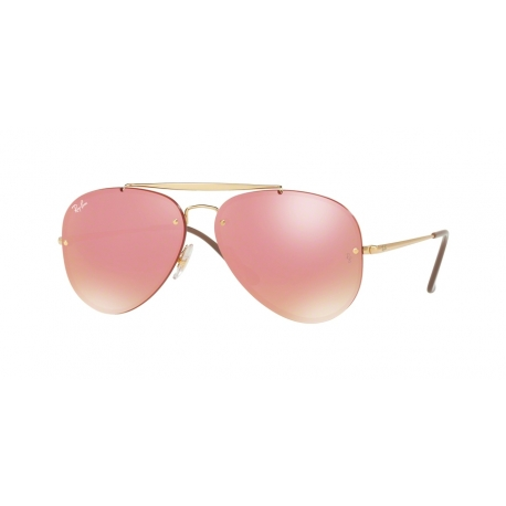 Ray-Ban RB3584N Blaze Aviator 9052E4 | Frame: gold | Lenses: pink mirror pink