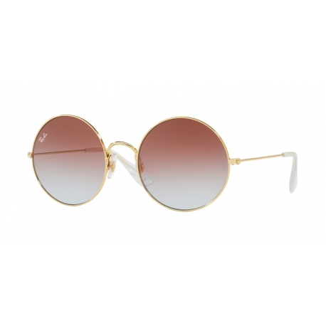 Ray-Ban RB3592 Ja-Jo 001/I8 | Frame: gold | Lenses: light blue gradient violet