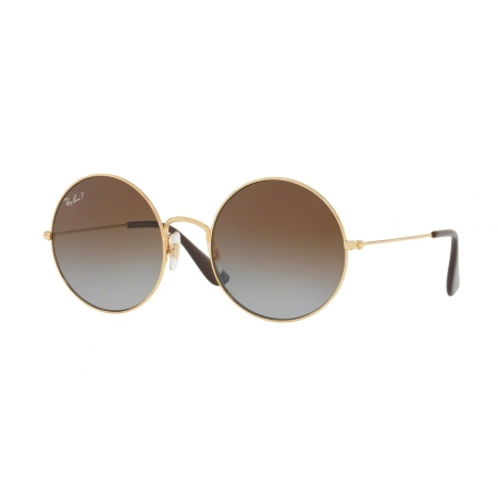 Ray-Ban RB3592 Ja-Jo 001/T5 | Frame: gold | Lenses: light grey gradient brown polarized