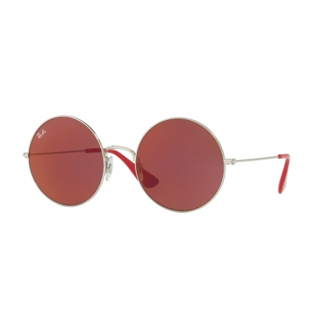 Ray-Ban RB3592 Ja-Jo 003/D0 | Frame: silver | Lenses: dark red mirror