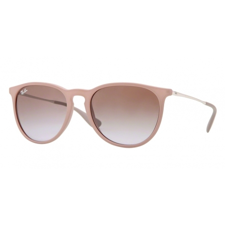 Ray-Ban RB4171 Erika 600068 | Frame: dark rubber sand | Lenses: brown gradient