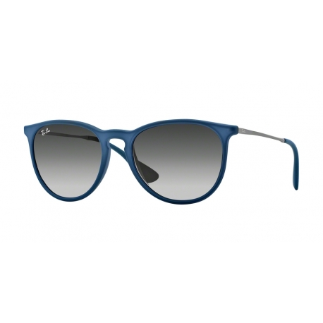 Ray-Ban RB4171 Erika 60028G | Frame: rubber blue | Lenses: grey gradient