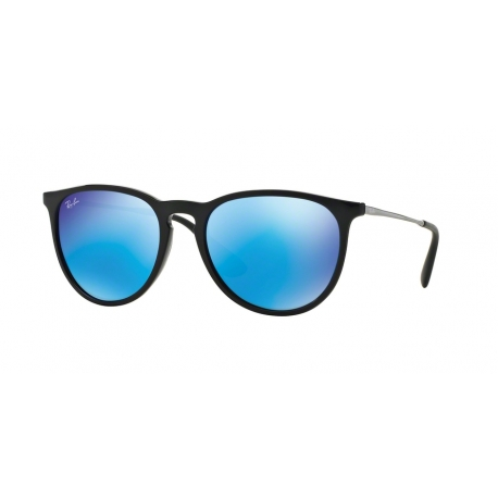 Ray-Ban RB4171 Erika 601/55 | Frame: black | Lenses: light green mirror blue
