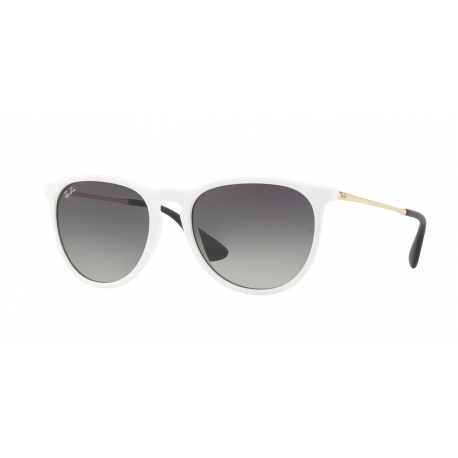 Ray-Ban RB4171 Erika 631411 | Frame: shiny white, red | Lenses: grey gradient dark grey
