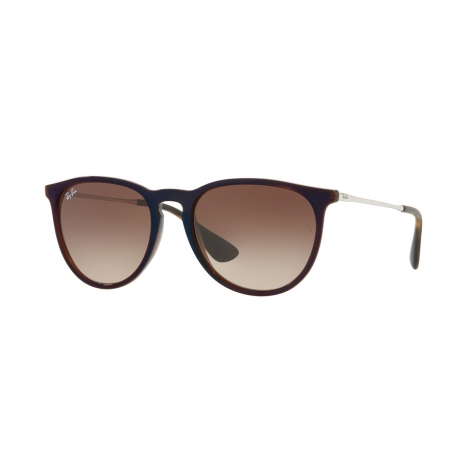 Ray-Ban RB4171 Erika 631513 | Frame: transparent brown, blue | Lenses: brown gradient dark brown