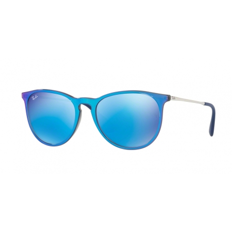 Ray-Ban RB4171 Erika 631855 | Frame: grey mirror flash blue | Lenses: light green mirror blue