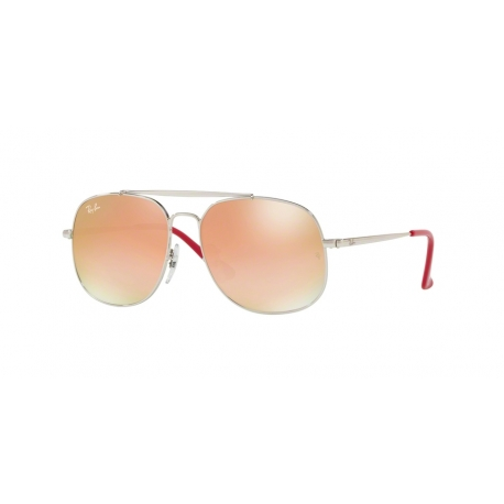Ray-Ban Junior RJ9561S 266/B9 | Frame: silver | Lenses: green gradient brown mirror pink