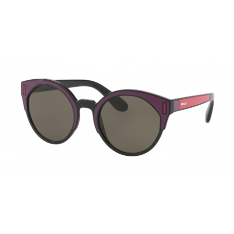 Prada PR 03US SSA5S2 | Frame: black, bordeaux, fuchsia | Lenses: brown